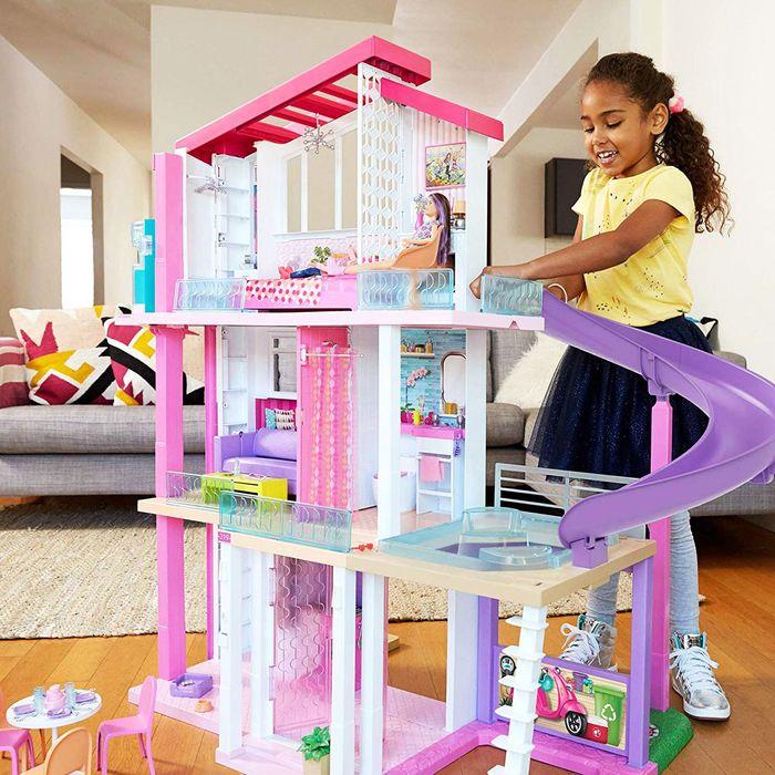 Barbie Dreamhouse Giftset 3 Floors 7 Rooms Elevator 70 Barbie Dolls
