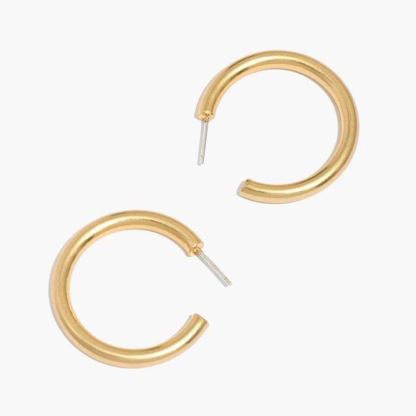 Chunky Medium Hoop Earrings