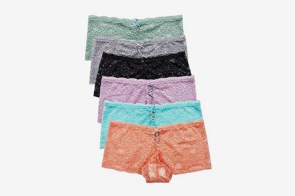 Barbra's Women's Lace Boyshort Panties (6-Pack)
