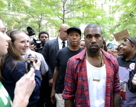 <b>Controversy:</b> It's not that anyone is going to begrudge you an expensive white tee (and Wang's are the best),  but Kanye wore his during his visit to Occupy Wall Street. Yes, while trying to commiserate with the 99 percent, he wore a $30,000 outfit.  <b>Resolution:</b> Zuccotti Park has been cleaned up; Kanye's obnoxious reputation has not.