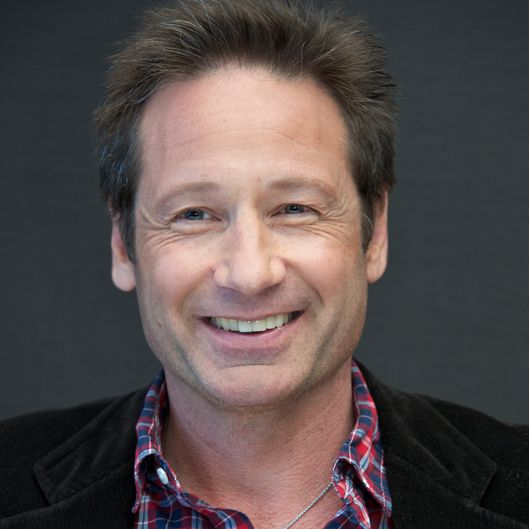 "NEW YORK, NY - MAY 05:  David Duchovny at the ""Californication"" Press Conference at the Mandarin Oriental Hotel on May 5, 2014 in New York City.  (Photo by Vera Anderson/WireImage)"