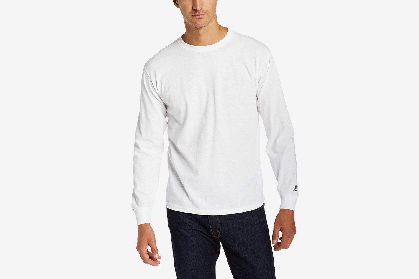 4286d0ada The Best Long-Sleeve T-Shirt for Men Under Six Feet. Russell Athletic Men s  Essential Long Sleeve Tee