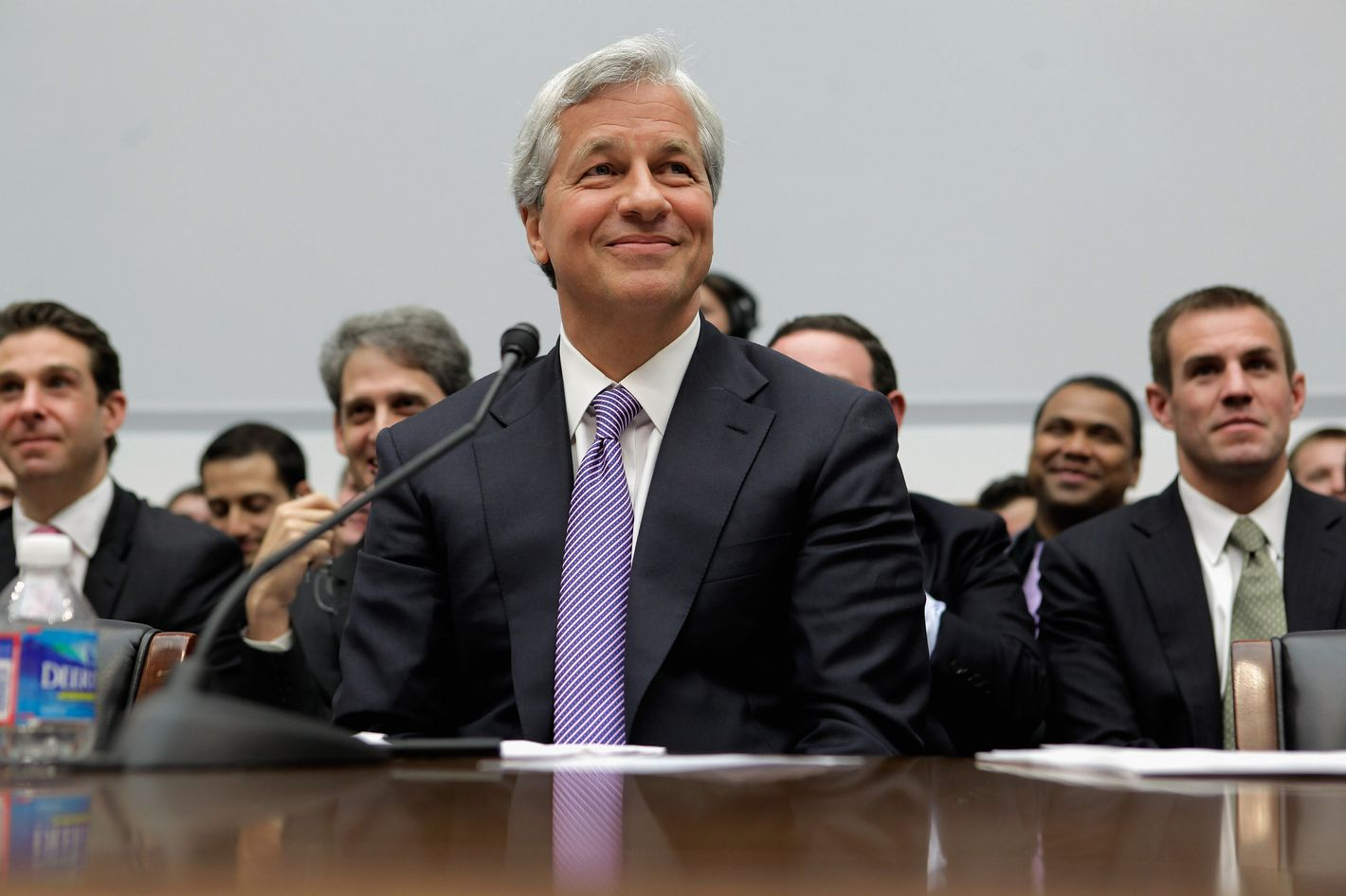 JPMorgan Chase & Co Chairman and CEO Jamie Dimon testifies before the House Financial Services Committee on Capitol Hill June 19, 2012 in Washington, DC. After testifying before the Senate last week, Dimon answered questions from the committee about his company's $2 billion trading loss earlier this year.