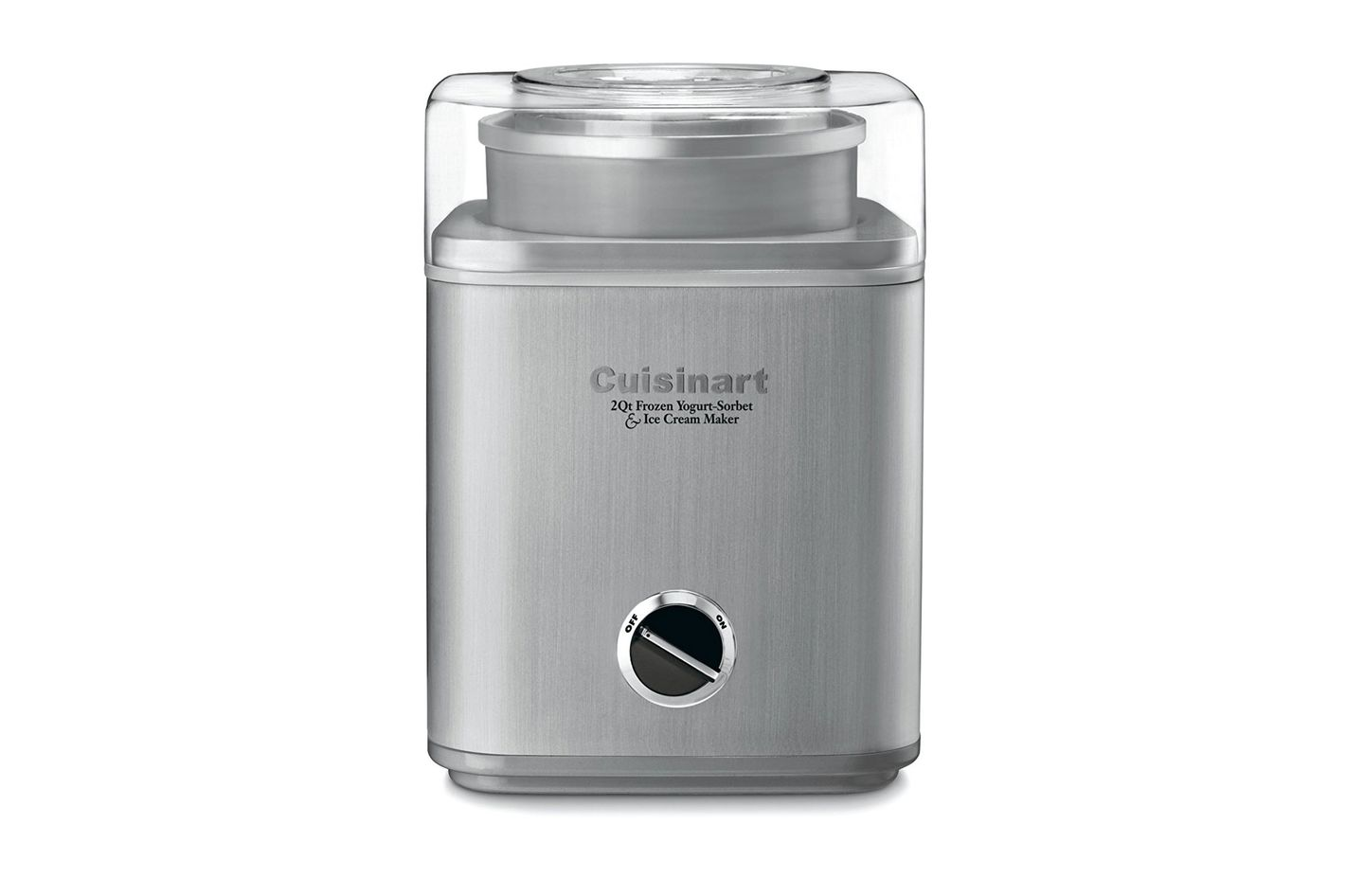 Cuisinart Automatic FroYo/Sorbet/Ice Cream Maker 2 Quart, Brushed Stainless