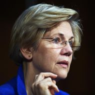 Sen. Elizabeth Warren (D-MA) listens during a hearing of the Senate Health, Education, Labor, and Pensions Committee on July 29, 2015 in Washington, DC. The committee is examining the reauthorization of the Higher Education Act, focusing on combating campus sexual assault.