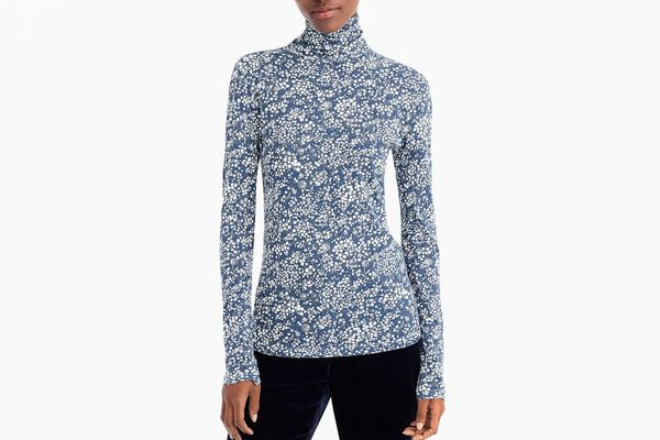 Tissue Turtleneck T-Shirt in Floral
