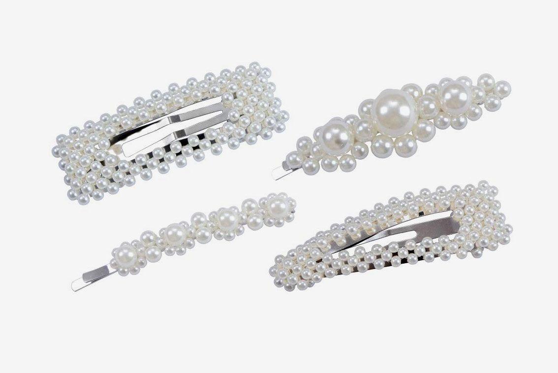 Fani 4-Pack Pearl Hair Clips