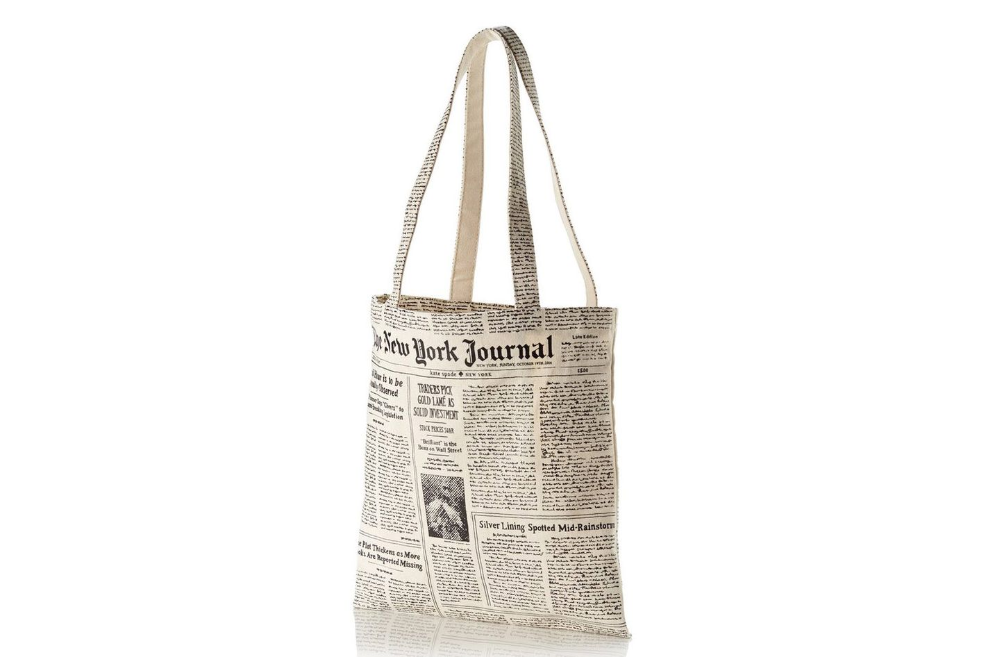 Kate Spade Newspaper Tote Bag