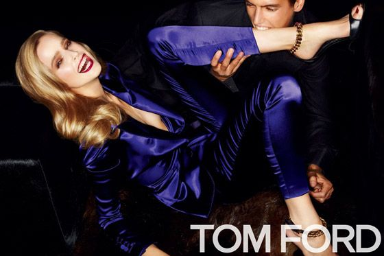 Mirte Maas and Mathias Bergh for Tom Ford.