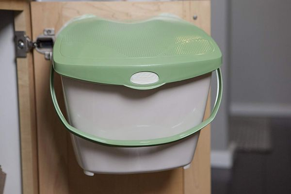 Mountable Kitchen Compost Bin by Zero Waste Together
