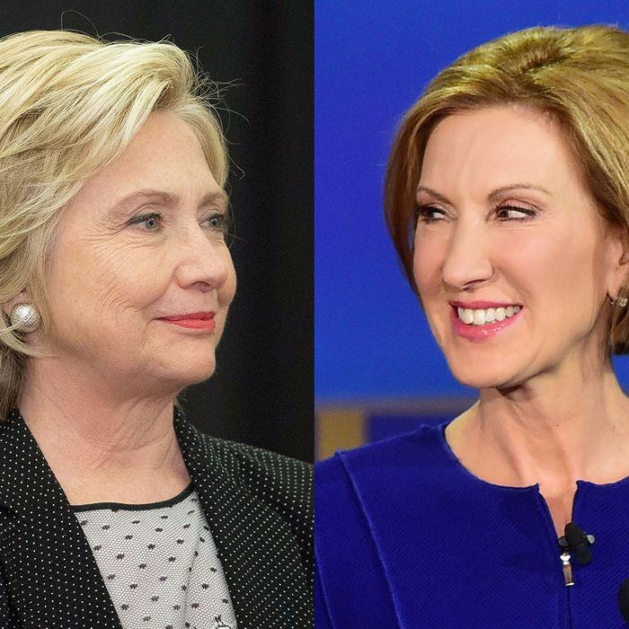 Hillary Clinton; Carly Fiorina.