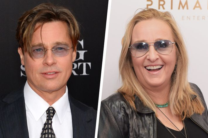 Brad Pitt and Melissa Etheridge