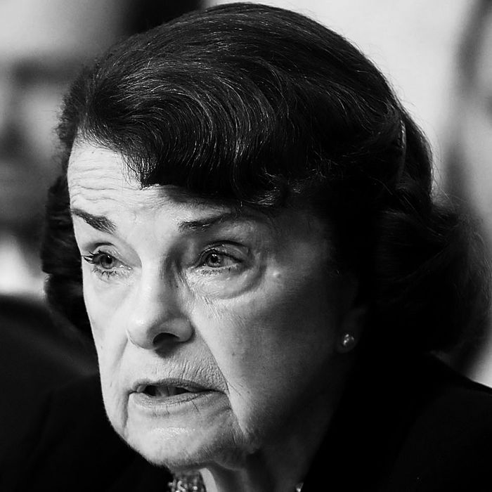Dianne Feinstein at the Kavanaugh hearings.