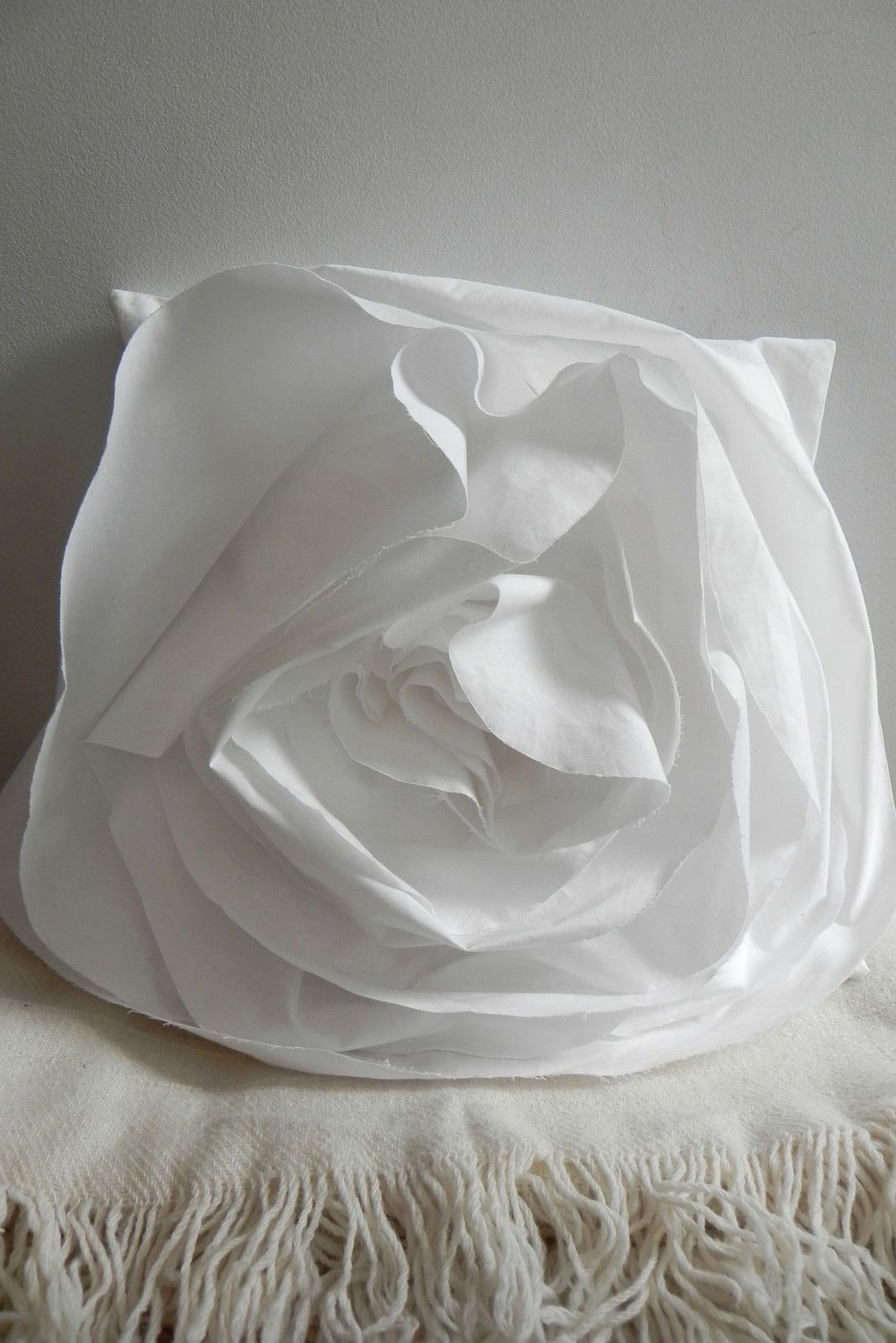 White Rose Pillow