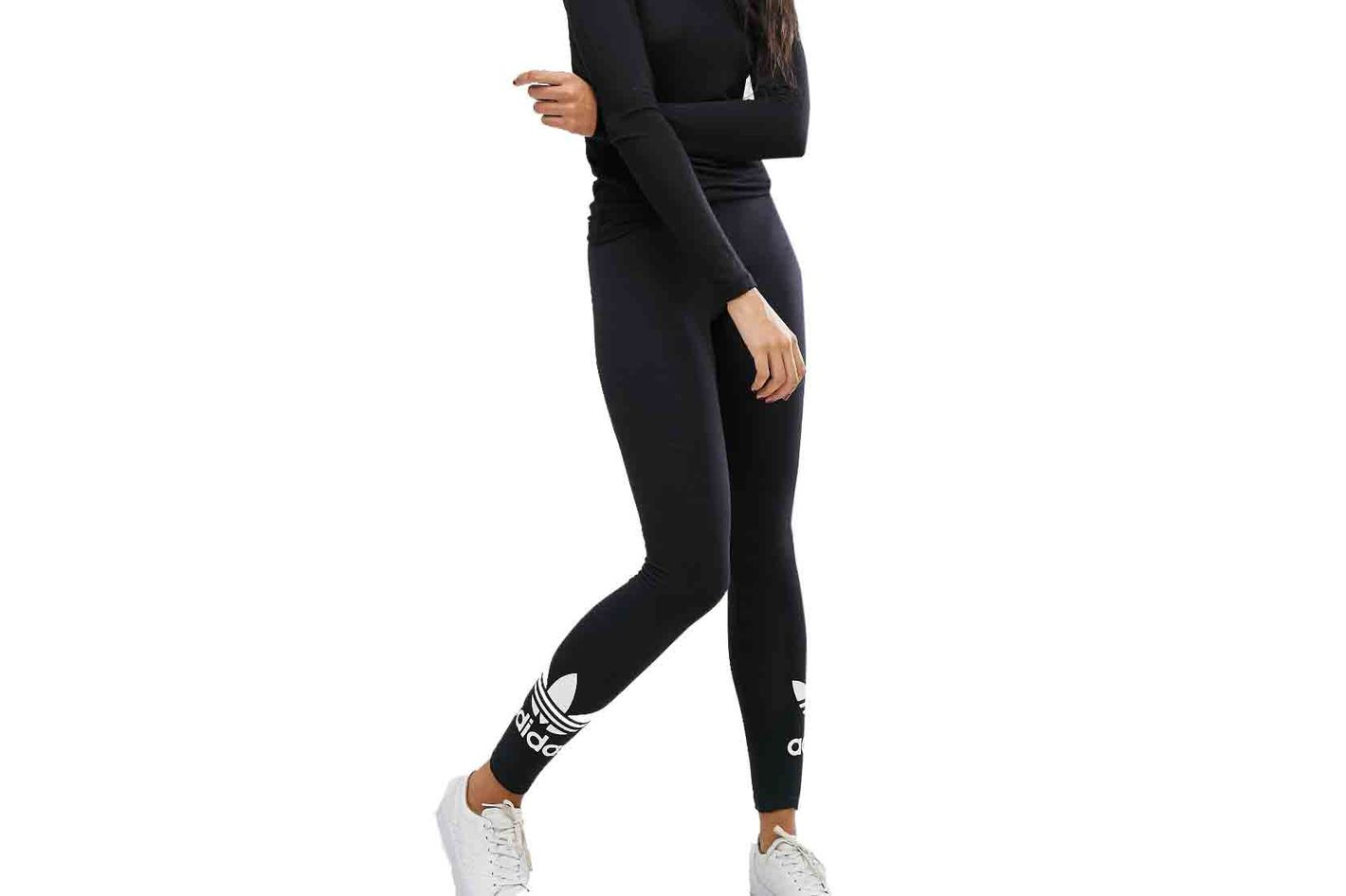 adidas Originals Adicolour Leggings With Double Trefoil Logo
