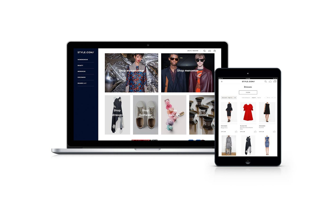 Relaunch to Style.com as an e-commerce site
