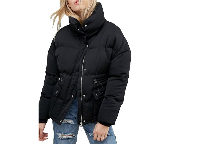 Neon Rose Puffer Coat
