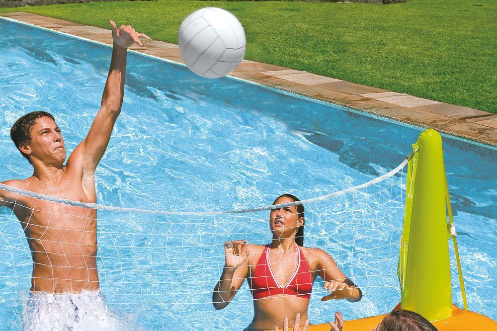 "Intex Pool Volleyball Game, 94"" X 25"" X 36"" — for Ages 6+"