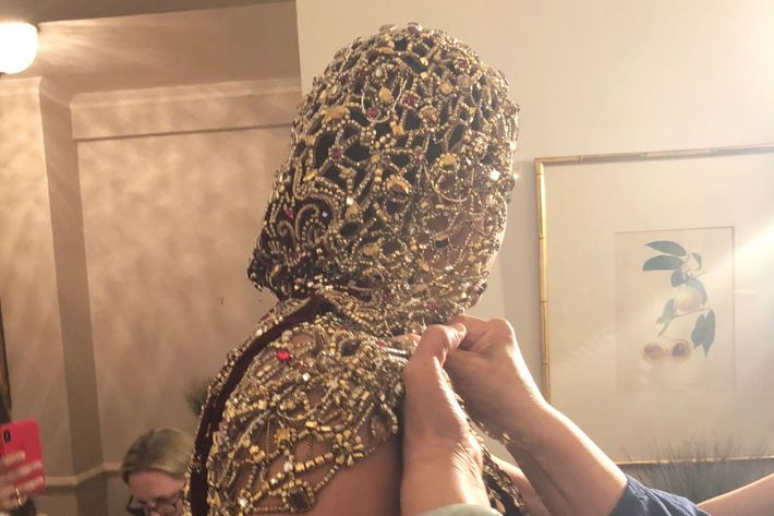 Priyanka Chopra getting ready for the 2018 Met Gala.