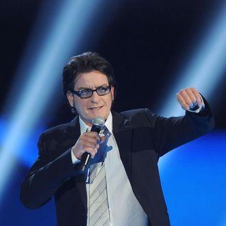 LOS ANGELES, CA - DECEMBER 10: Actor Charlie Sheen speaks onstage at Spike TV's
