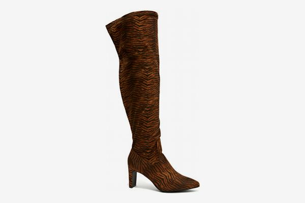 Fashion To Figure Animal Print Over The Knee Boots