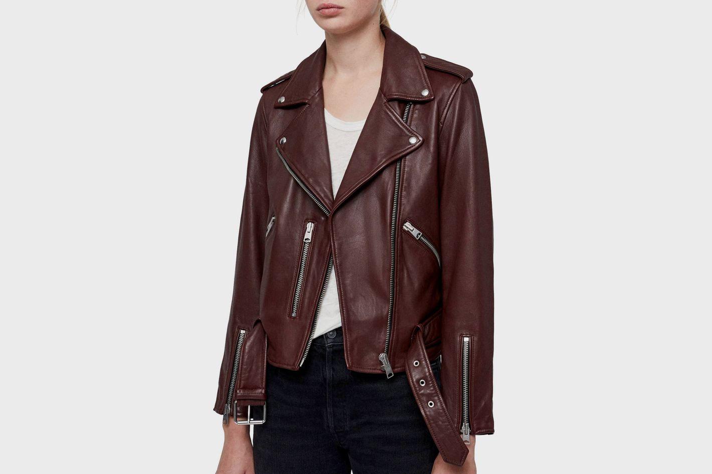 69884c9bf6e3f ALLSAINTS Balfern Leather Biker Jacket at Nordstrom