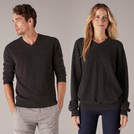 Naadam the Essential Cashmere V-Neck Sweater