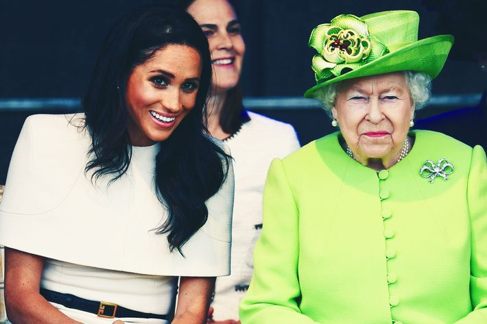 Meghan Markle and Queen Elizabeth.