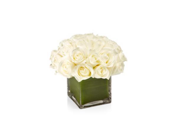 H. Bloom White-Rose Cube