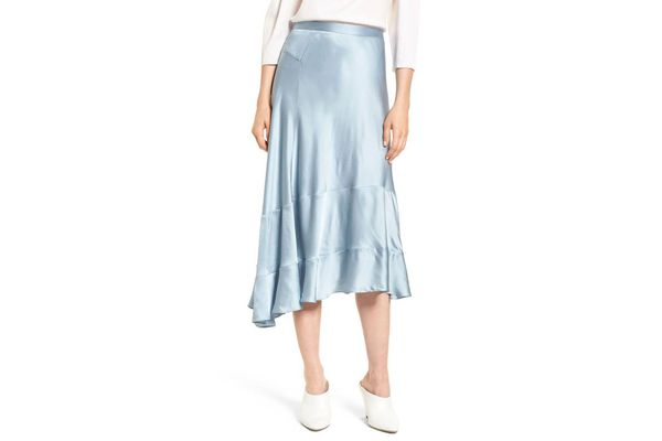 Lewit A-Line Ruffle Hem Skirt
