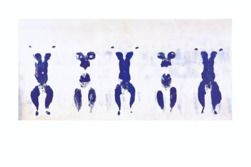 """Untitled, Anthropometry,"" c. 1960, by Yves Klein"