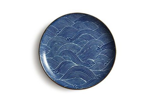 Tansu Aranami Blue Wave Dinner Plate