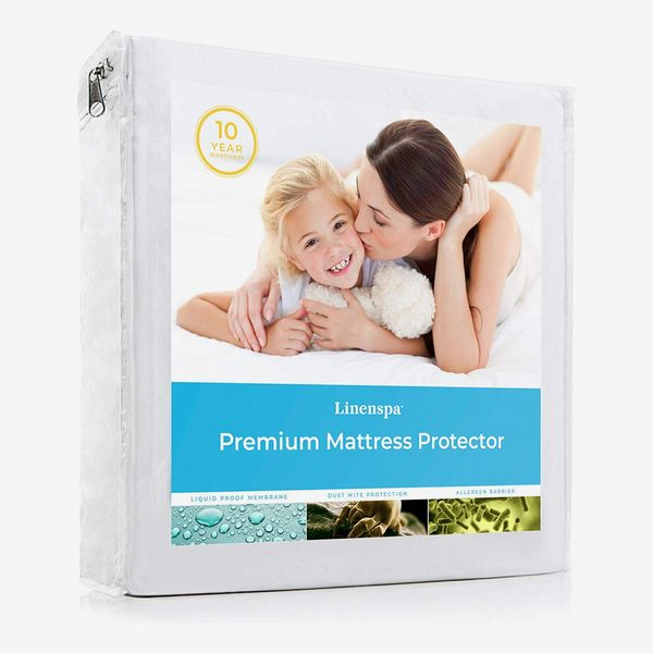 Linenspa Mattress Protector-100% Waterproof-Hypoallergenic-Top Protection Only