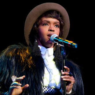 Lauryn Hill performs at the Rock and Roll Hall of Fame tribute concert honoring Aretha Franklin