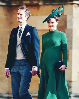 Pippa Middleton and James Matthews at Princess Eugenie's wedding.