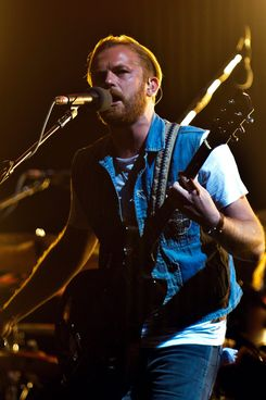 Caleb Followill of Kings of Leon performs on day 2 of the V Festival at Hylands Park on August 18, 2013 in Chelmsford, England.