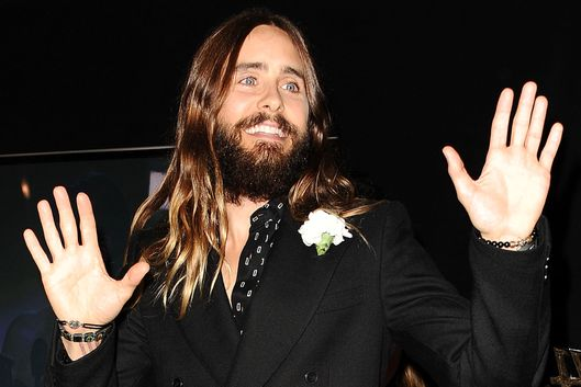Actor Jared Leto poses in the press room at the 18th annual Hollywood Film Awards at Hollywood Palladium on November 14, 2014 in Hollywood, California.  (Photo by Jason LaVeris/FilmMagic)