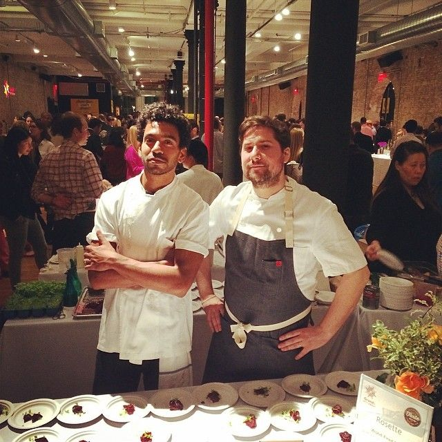 Curtin, at right, at Taste of the LES in April.