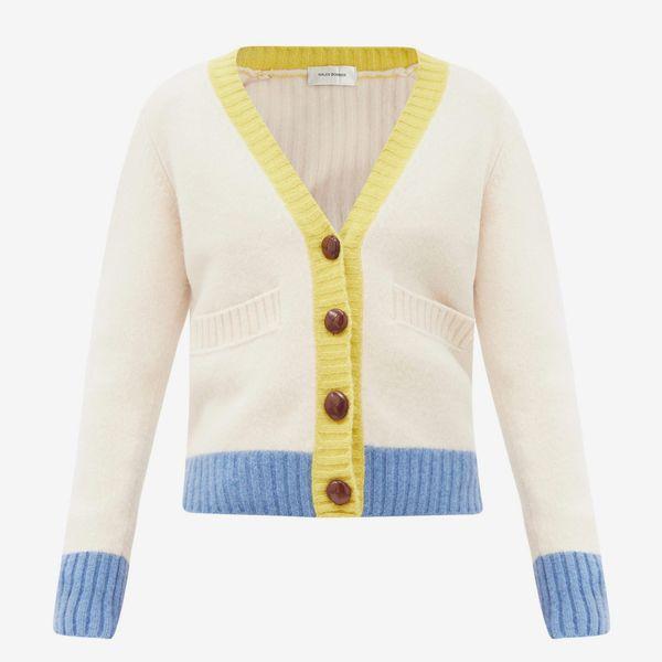 Wales Bonner Johnson Wool V-Neck Cardigan