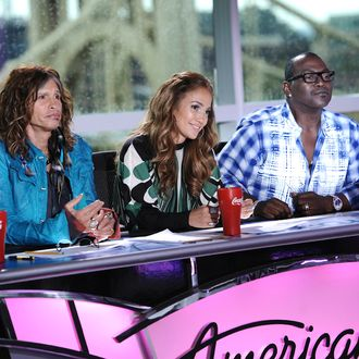 AMERICAN IDOL: L-R: Steven Tyler, Jennifer Lopez and Randy Jackson