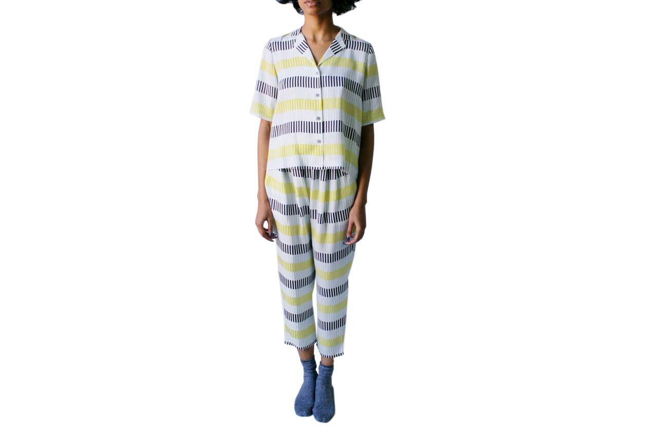 Dusen Dusen Lock Stripe Pajama Set
