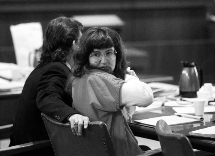 "Rachelle ""Shelley"" Shannon in court in the '90s."