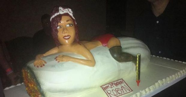 See Rihannas Birthday Cake Vulture