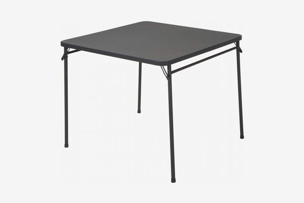 """Cosco Products 34"""" Square Resin Top Folding Table, Black"""