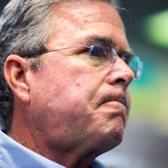 Republican Presidential Candidate Jeb Bush Campaigns in New Hampshire