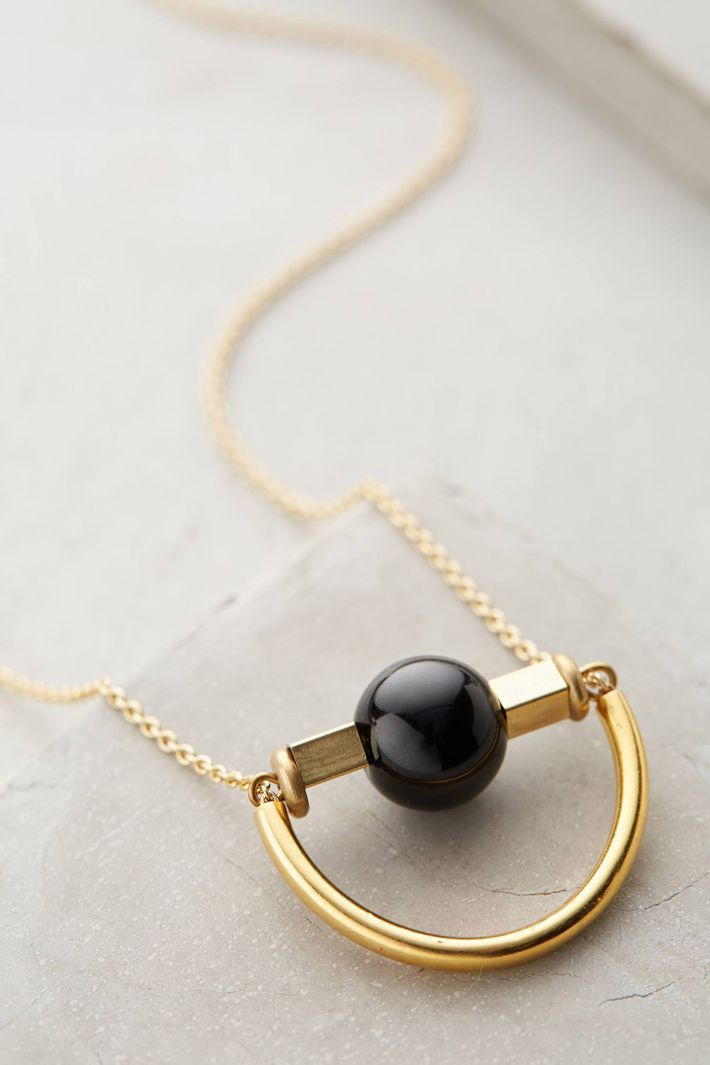 A Simple Gold Pendant Perfect for Layering