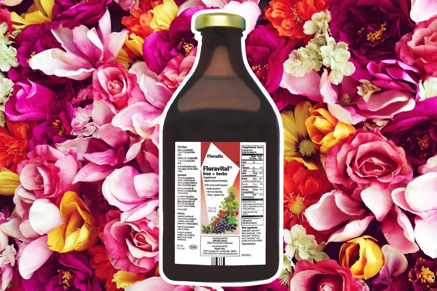 Floravital Iron & Herbs Yeast Free Flora Inc 17 oz Liquid