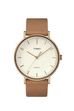 Timex Fairfield Leather Strap Watch