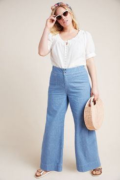 Pilcro High-Rise Wide-Leg Trouser Jeans