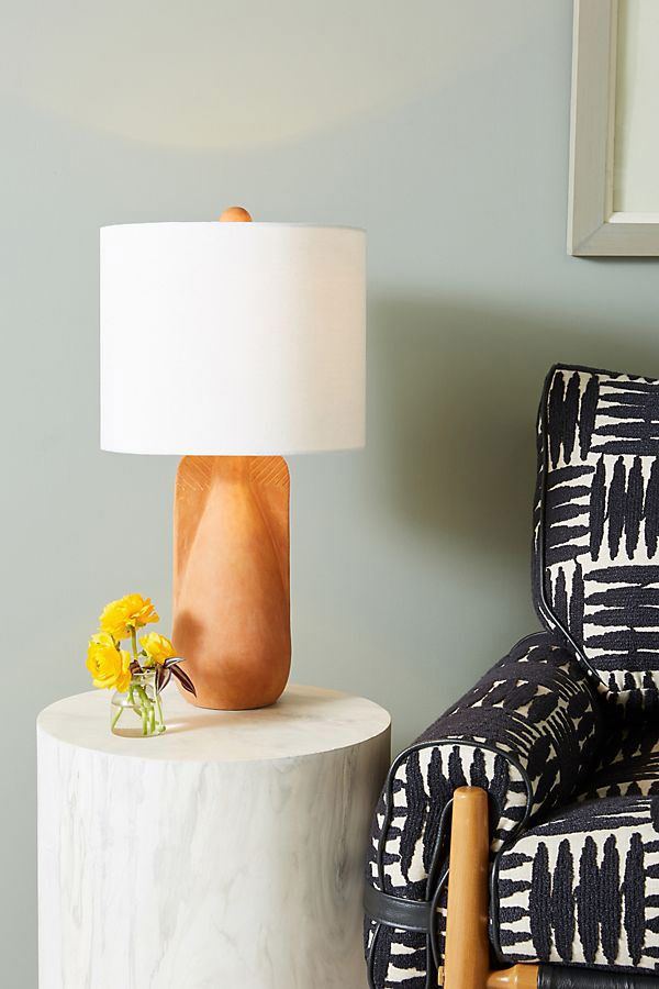 Anthropologie Large Mesa Ceramic Lamp Ensemble